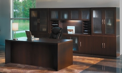 Picture of Safco AT35 Executive Desk with Hutch