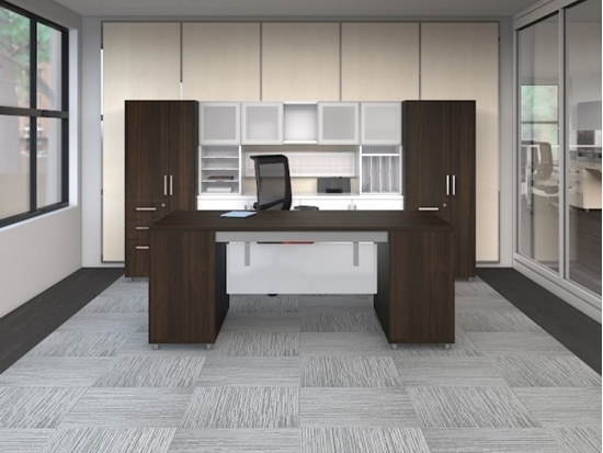 Mayline e5 Executive Office Suite With Desk