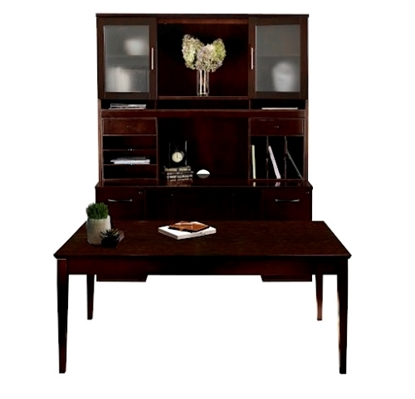 Picture of Safco ST17 Table Desk with Credenza & Hutch