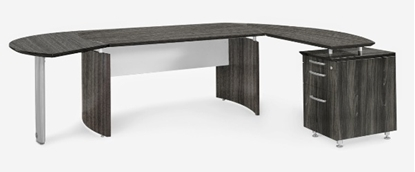 Picture of Safco Medina L-Shaped Desk with Curved Extension