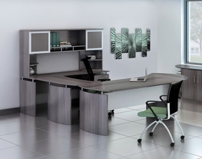 Picture of Safco MNT31/32 U-Shaped Desk with Hutch