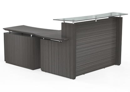 Picture of Safco STG34 Reception Desk with Lateral File Cabinet