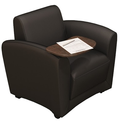 Picture of Safco VCCMT Leather Lounge Chair w/ Tablet