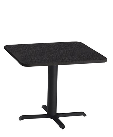 """Picture of Safco CA30SLB Bistro 30"""" Square Lunch Room Table"""