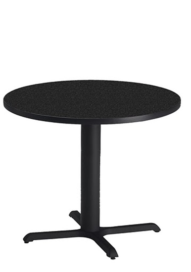 """Picture of Safco CA36RLB Bistro 36"""" Round Lunch Room Table"""