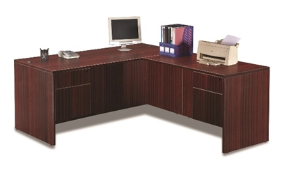 Picture of Marquis ML102-145 L-Shaped Desk with Hanging Pedestals
