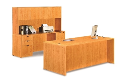Picture of Marquis ML102-111 Desk and Credenza with Hutch