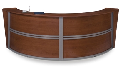 Picture of OFM 55292 Curved Receptionist Desk | Double-Unit Station