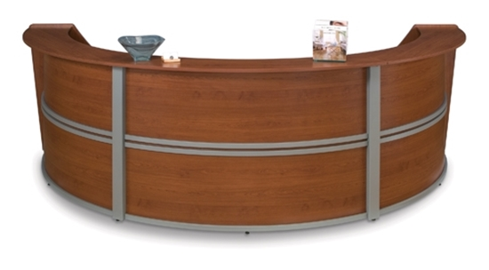 Three Person Curved Reception Desk Ofm Furniture