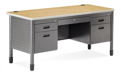 Picture of OFM 66360 Double Pedestal Metal Desk