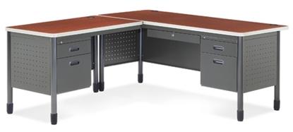 Picture of OFM 66366 L-Shaped Metal Desk