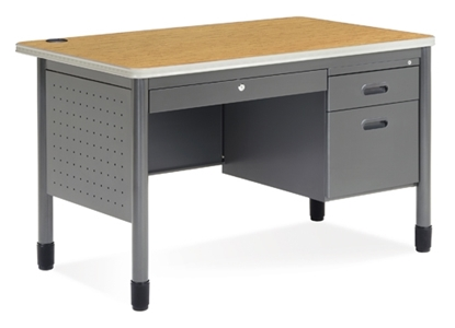 Picture of OFM 66348 Metal Single Pedestal Desk