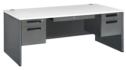 "Picture of OFM 77372 72""W Double Pedestal Desk"