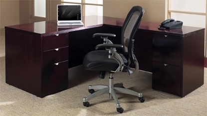 Picture of Office Star KENTYP9 L Shaped Desk with Wood Veneer