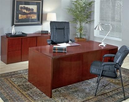 "Picture of Office Star SONTYP2-SON10 72"" Wood Veneer Executive Desk & Credenza"