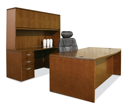 Picture of Offices to Go VF7240BDS Executive Desk with Hutch