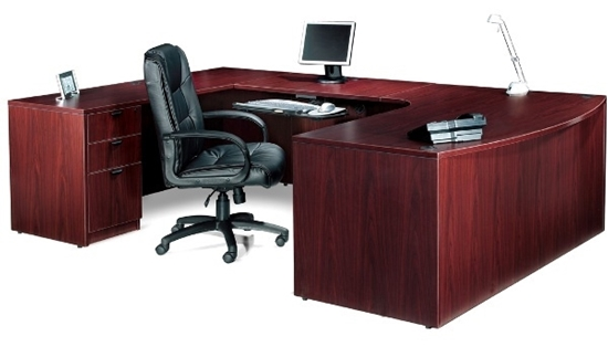 Beau Picture Of Offices To Go SL7148BCL Executive U Shaped Desk With Drawers