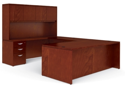 Picture of Offices to Go VF7236DS U Shaped Desk with Hutch
