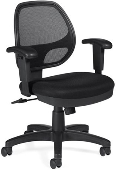 Picture of Offices to Go OTG11647B Black Mesh Chair