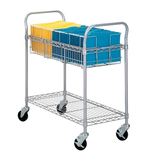 "Picture of Safco 5236GR 36""W Wire Mail Cart"