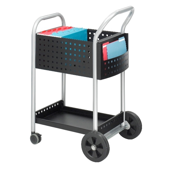 """Picture of Safco 5238BL 20""""W Scoot Mail Cart"""