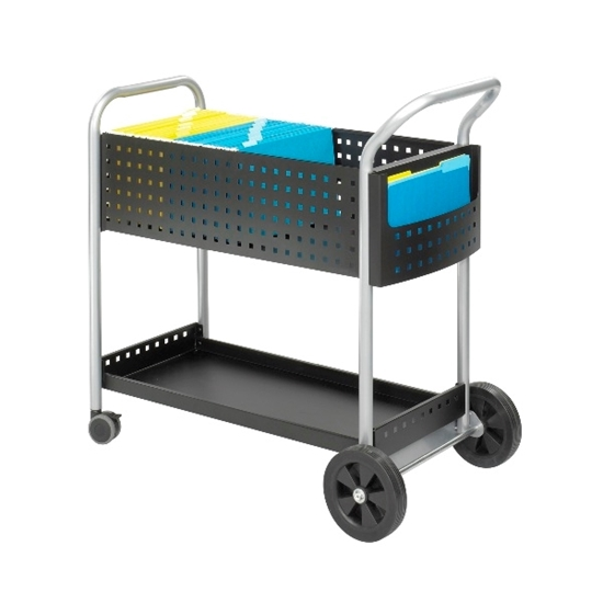 """Picture of Safco 5239BL 32""""W Scoot Mail Cart"""