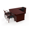 Picture of Cherryman EM-409N Wood Veneer L Shaped Desk