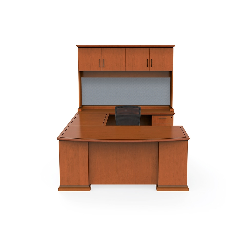 Office Desk U Shape With Hutch And File Drawers