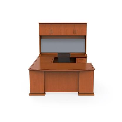 Picture of Cherryman EM-419N U Shaped Desk with Hutch