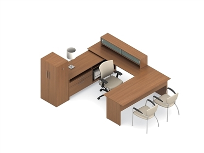 Picture of Global A3J U Shaped Desk with Drawers
