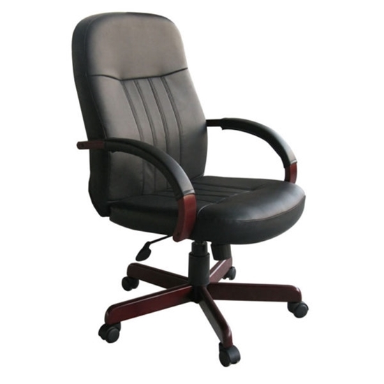 Picture of Boss B8376 Black Leather Chair
