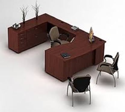 Picture of Global Layout 10 U Shaped Desk with Drawers