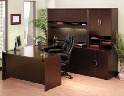 Picture of Bush COR053 U Shaped Office Desk with Hutch