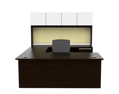 Picture of Cherryman VL-675N U Shaped Desk with Hutch
