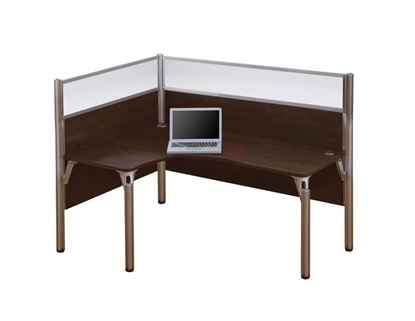 Picture of Bestar 100854B L Shaped Desk with Full Wall