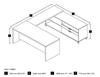 Picture of Bestar 120861 U-Shaped Desk