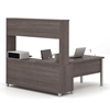 Picture of Bestar 120864 L-Shaped Desk with Hutch