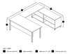 Picture of Bestar 120881 U-Shaped Desk