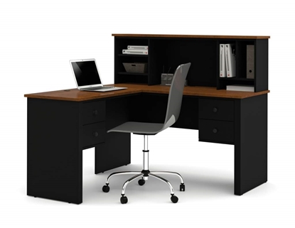 Picture of Bestar 45850 L Shaped Desk with Hutch