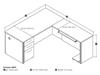 Picture of Bestar 60852 L Shaped Office Desk