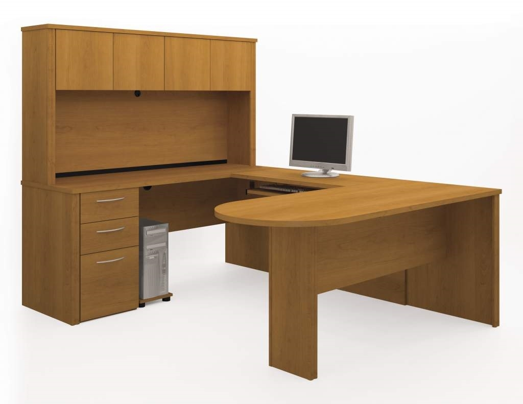 Bestar Office Desk  U Shaped With Hutch And Drawers. Trestle Table Desk. Painted Office Desk. 6ft Table Cloth. Laptop Coffee Table. Computer Desk Walmart. Space Saving Corner Desk. Metal Desk For Sale. White And Walnut Desk