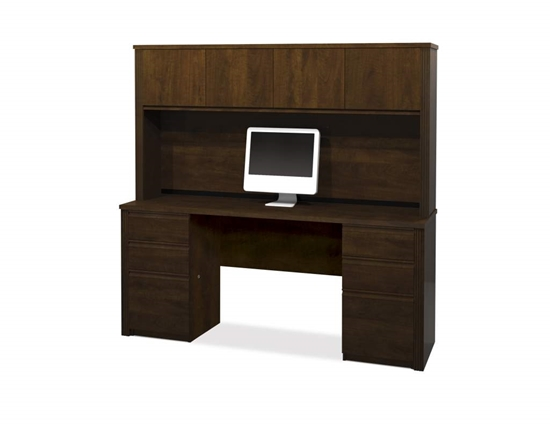 Picture of Bestar 99851 Executive Desk with Hutch