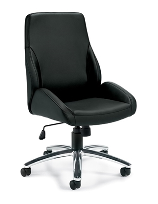 Picture of Offices to Go OTG11786B Luxhide Tilter  Conference Chair