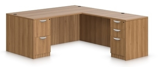 Picture Of Offices To Go Sl6630ds L Shaped Desk With Drawers