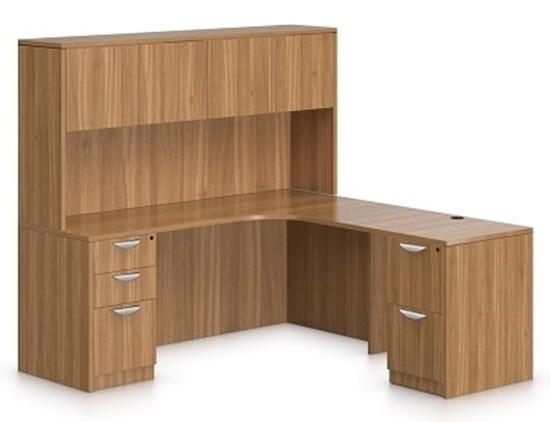 L office desk Metal Picture Of Offices To Go Sl7136cersl3624r Shaped Desk With Hutch Furniture Wholesalers Shaped Office Desk With Hutch Sl7136cersl3624r