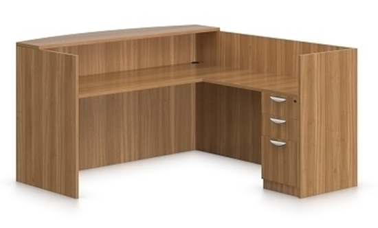l shaped reception desk. Picture Of Offices To Go SL7130RDS L Shaped Reception Desk With Drawers