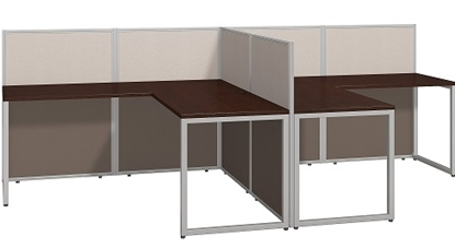 Picture of EOD560MR-03K Two Person L Shaped Desk Open Office