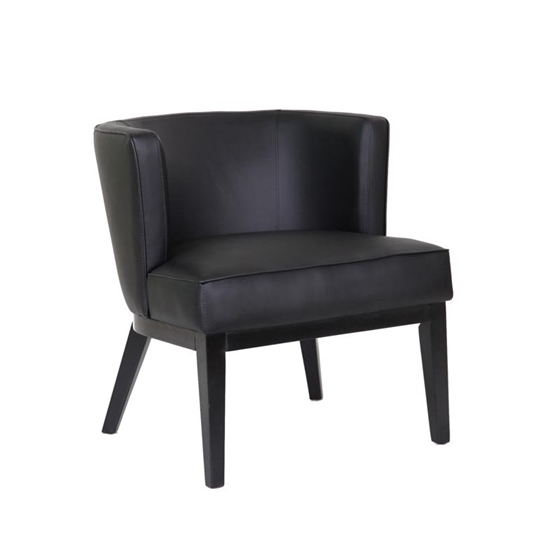 Black Leather Accent Chairs For Bariatric.B529 Ava Accent Chair