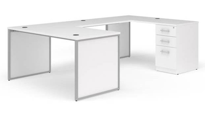 "Picture of OFM Fulcrum FC003 72""W U-Shaped Desk with End Panels"