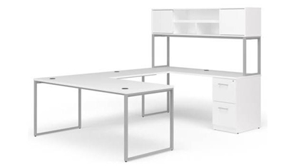 "Picture of OFM Fulcrum FC004 60""W U-Shaped Desk with Hutch"